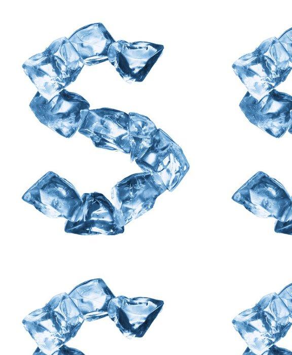 Tapeta Pixerstick Abeceda vyrobený z ledu - Jídla