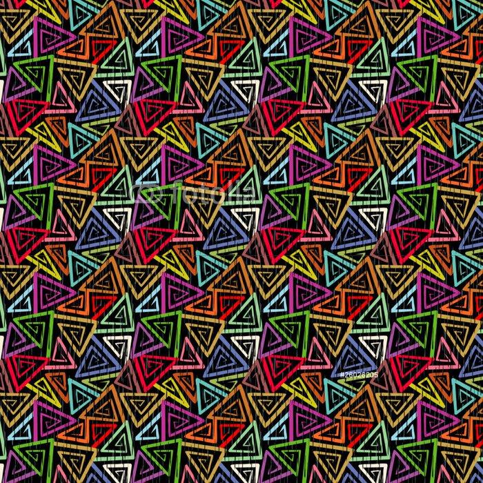 Tapeta Pixerstick Abstract bezešvé grunge geometrický vzor - Styly