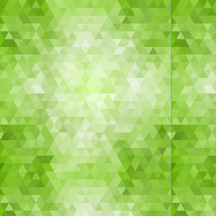Vinylová Tapeta Abstract green mosaic background - Roční období
