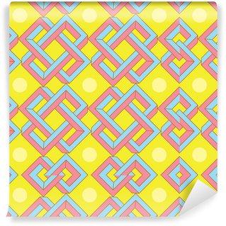 Tapeta Pixerstick Abstract Optical Illusion vzor v japonském stylu