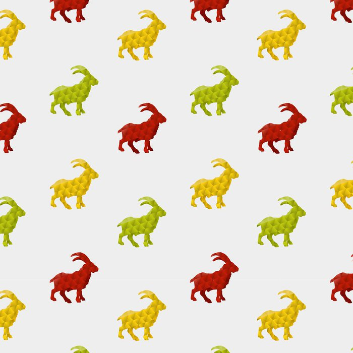 Tapeta Pixerstick Abstrakt koza na bílém pozadí. bezešvé vzor - Pozadí