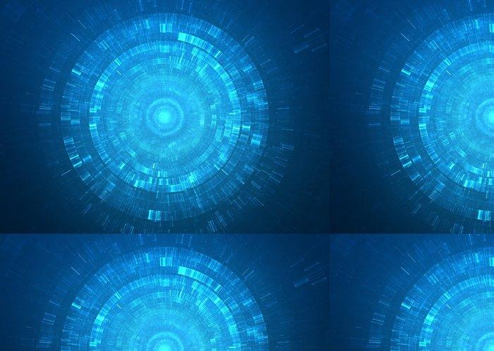 Tapeta Pixerstick Abstrakt kruhové sci-fi futuristický pozadí - Abstraktní