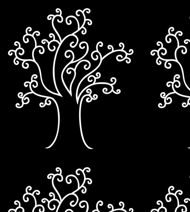 Tapeta Pixerstick Abstrakt spletitý strom - Stromy