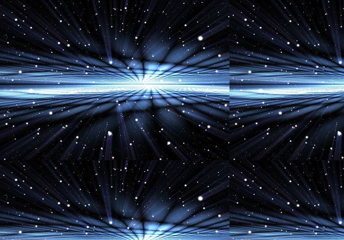 Tapeta Pixerstick Abstrakt time warp, cestování ve vesmíru. - Abstraktní