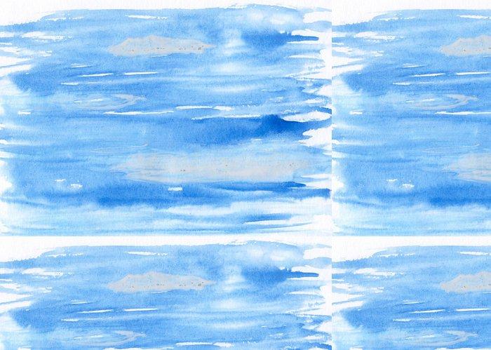 Tapeta Pixerstick Abstraktní akvarel ručně malovaná pozadí - modrá obloha - Umění a tvorba