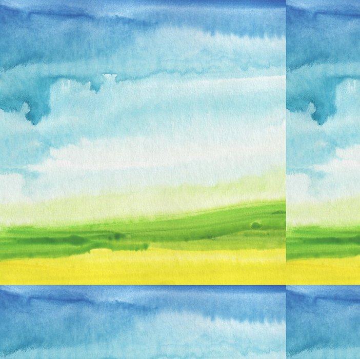 Tapeta Pixerstick Abstraktní akvarel ručně malované krajiny pozadí. texturou - Témata