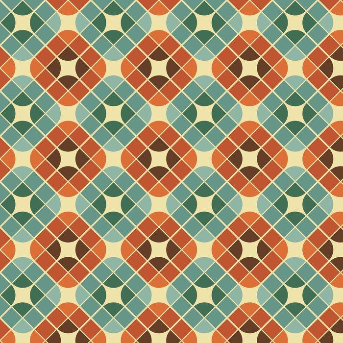 Tapeta Pixerstick Abstraktní barevné dlaždice bezešvé vzor. - Styly