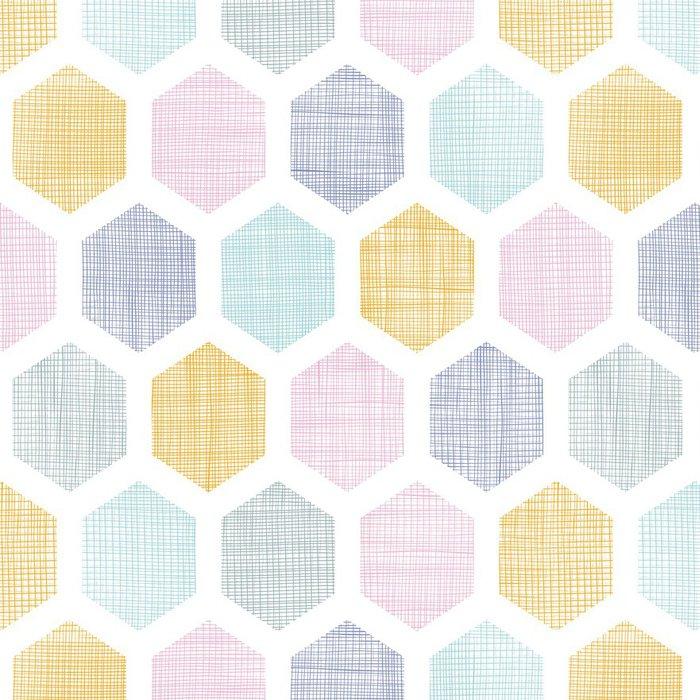 Tapeta Pixerstick Abstraktní barevné plástev tkaniny texturou bezešvé vzor - Umění a tvorba