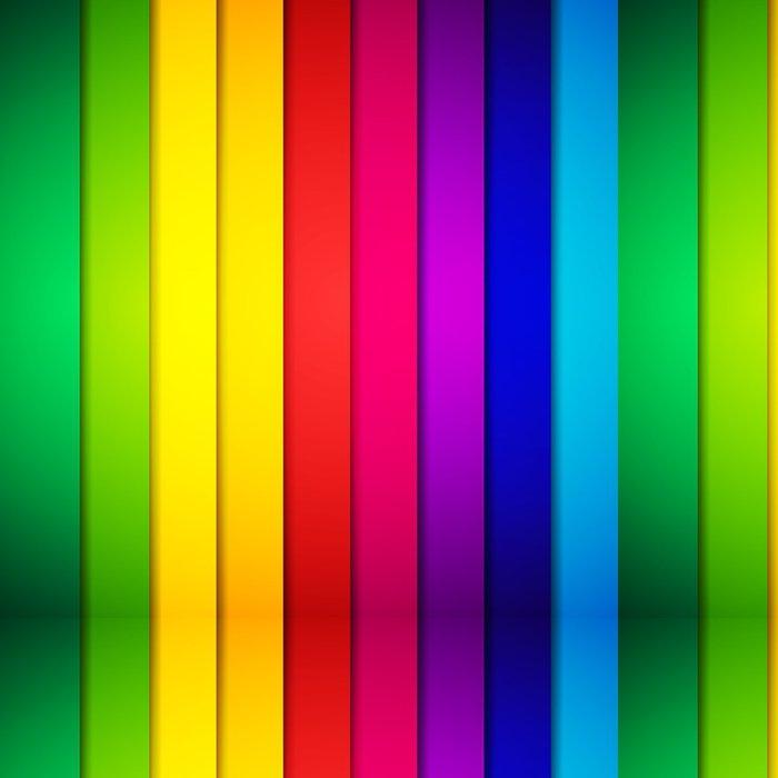 Tapeta Pixerstick Abstraktní barevné pruhované pozadí. vektorové ilustrace - Pozadí