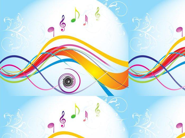 Vinylová Tapeta Abstraktní barevné vlny se zvukem - Pozadí