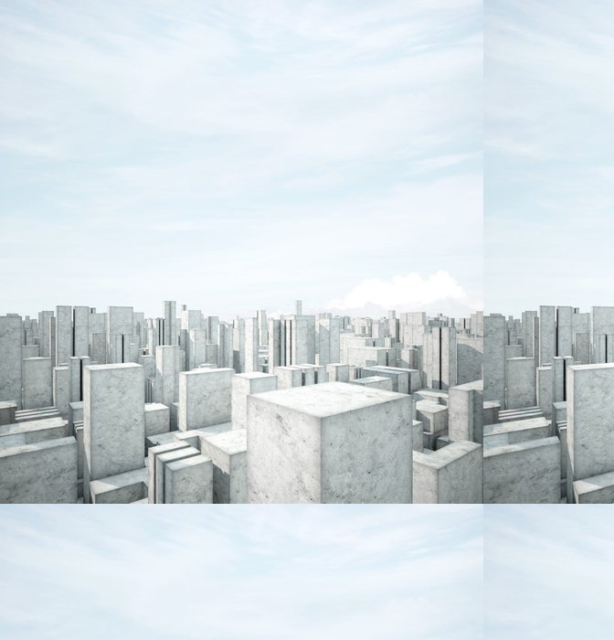 Tapeta Pixerstick Abstraktní beton architektura - Jiné