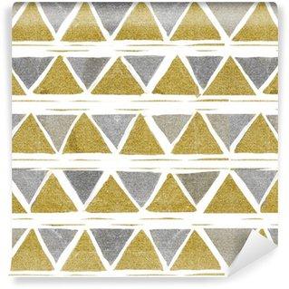 Tapeta Pixerstick Abstraktní bezešvé golden pattern