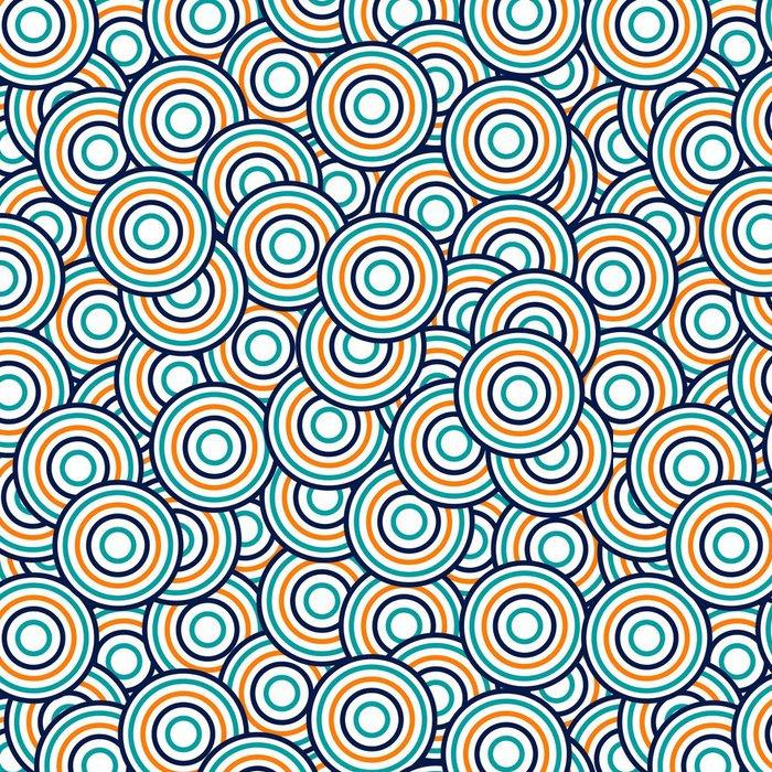 Tapeta Pixerstick Abstraktní bezešvé vzor s jasnými kruhy - Styly