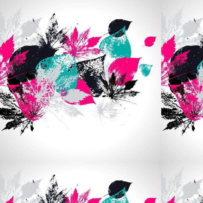 Vinylová Tapeta Abstraktní bezešvé vzor s listy - Struktury