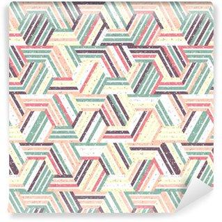 Vinylová Tapeta Abstraktní bezproblémový vzor množiny trojúhelníků a pruhů. textured pozadí.