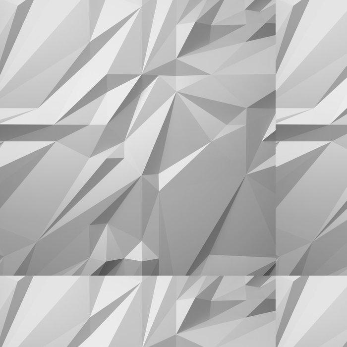 Vinylová Tapeta Abstraktní bílé pozadí low poly - Pozadí