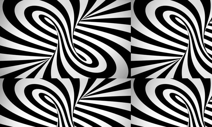 Tapeta Pixerstick Abstraktní černé a bílé pozadí 3d - Abstraktní