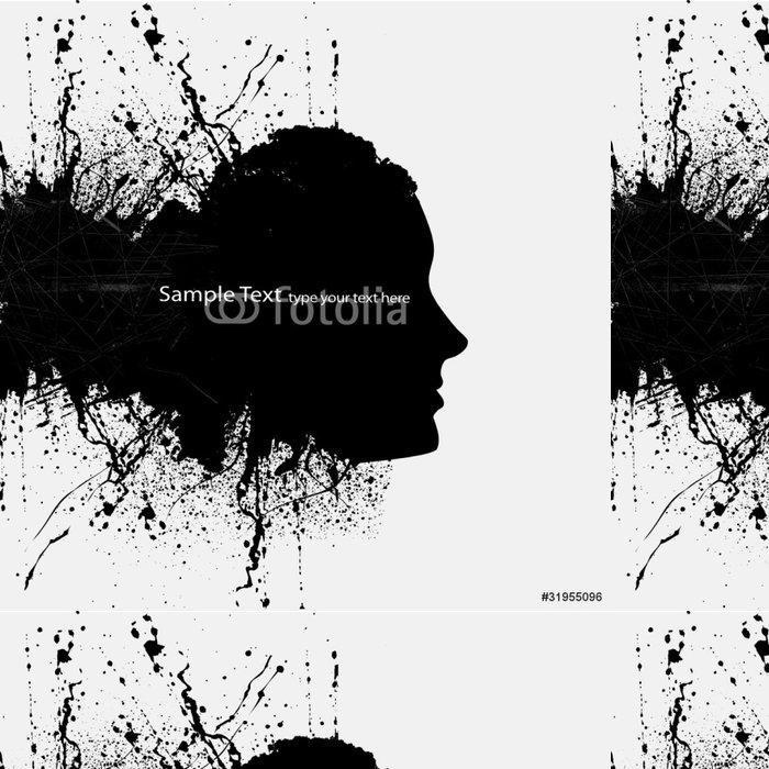 Vinylová Tapeta Abstraktní dívka na pozadí design - Značky a symboly