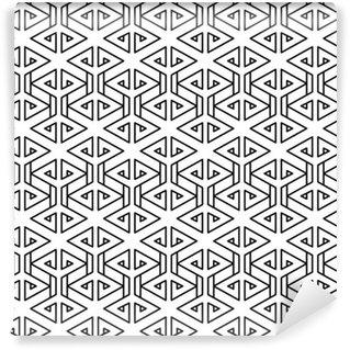 Vinylová Tapeta Abstraktní geometrické černá a bílá bederní módní polštář vzor