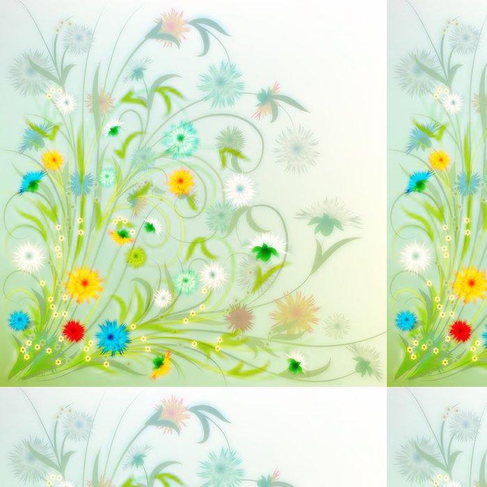 Tapeta Pixerstick Abstraktní grunge ilustrace s jarními květinami - Pozadí