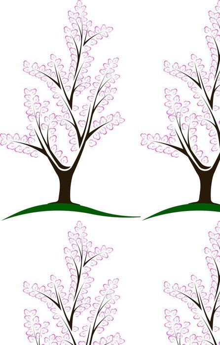 Tapeta Pixerstick Abstraktní květ strom - Stromy