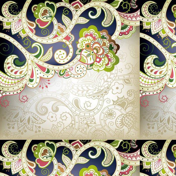 Tapeta Pixerstick Abstraktní květinové spirála - Pozadí