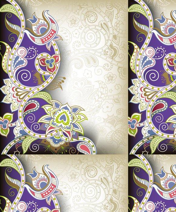 Vinylová Tapeta Abstraktní květinové vzory Purple - Pozadí
