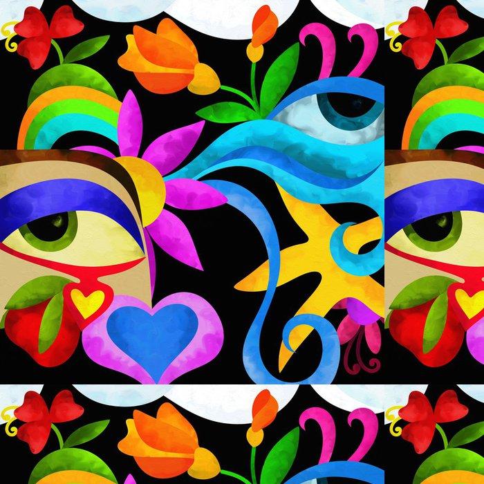 Tapeta Pixerstick Abstraktní oči - Jiné pocity
