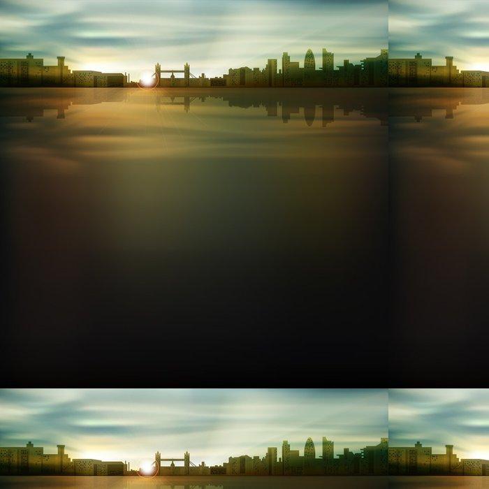 Tapeta Pixerstick Abstraktní pozadí se siluetou města - Pozadí