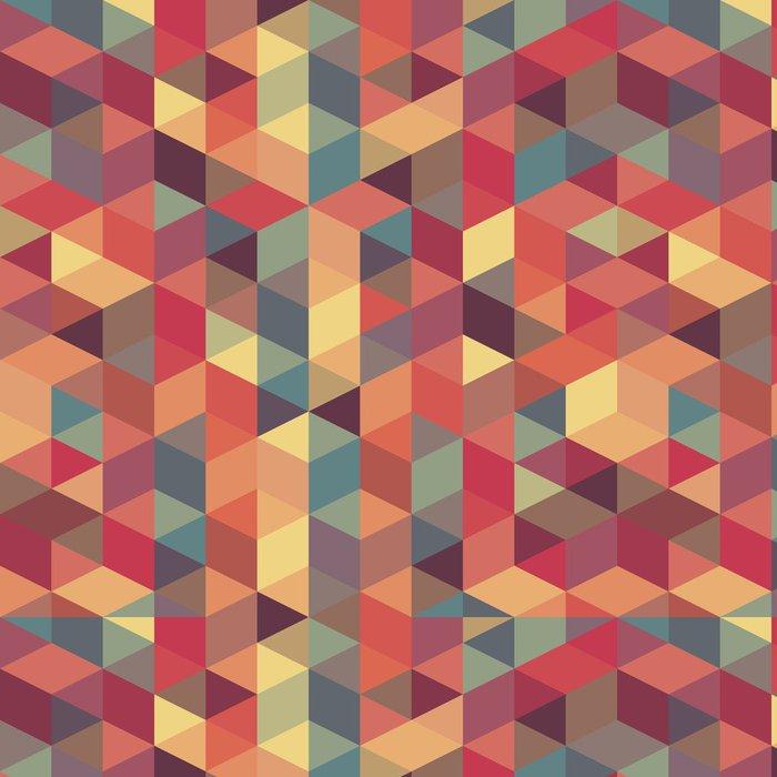 Tapeta Pixerstick Abstraktní retro geometrický vzor - Témata