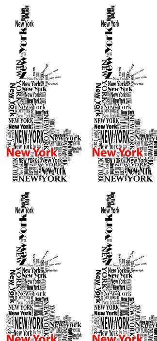 Tapeta Pixerstick Abstraktní socha svobody se slovy New Yorku - Nálepka na stěny