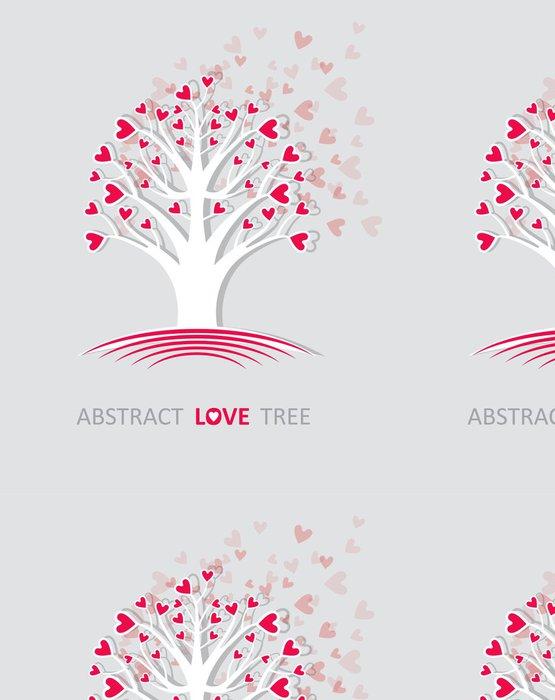 Tapeta Pixerstick Abstraktní strom lásky. - Mezinárodní svátky