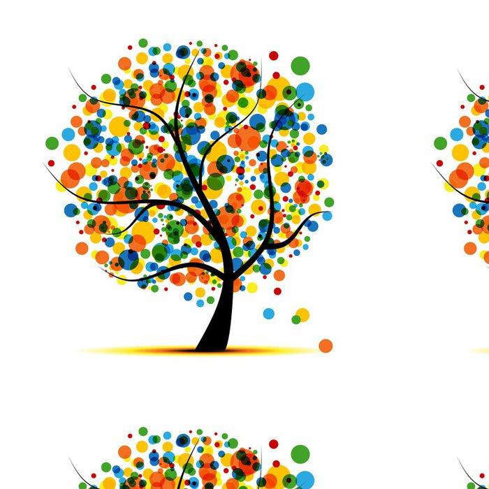 Tapeta Pixerstick Abstraktní strom pro svůj design - Roční období