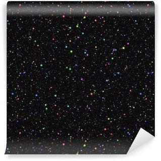 Vinylová Tapeta Abstraktní světlý barevný vesmír. duhové barevné hvězdy. letní noční hvězdná obloha. vícebarevný lesklý vesmírný prostor. třpytivé pozadí galaktické textury. bezproblémové ilustrace.