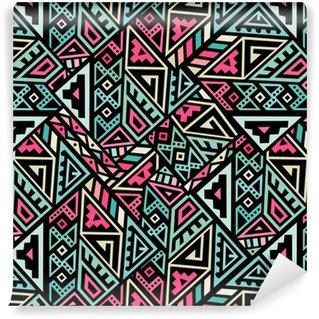 Vinylová Tapeta Abstraktní vektor bezešvé vzor v etnickém stylu