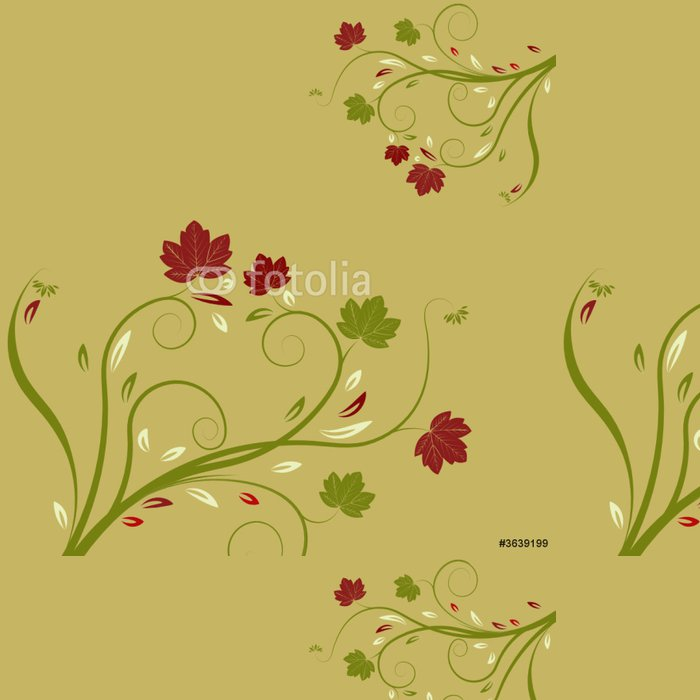 Vinylová Tapeta Abstraktní vektorové ilustrace květina - Květiny