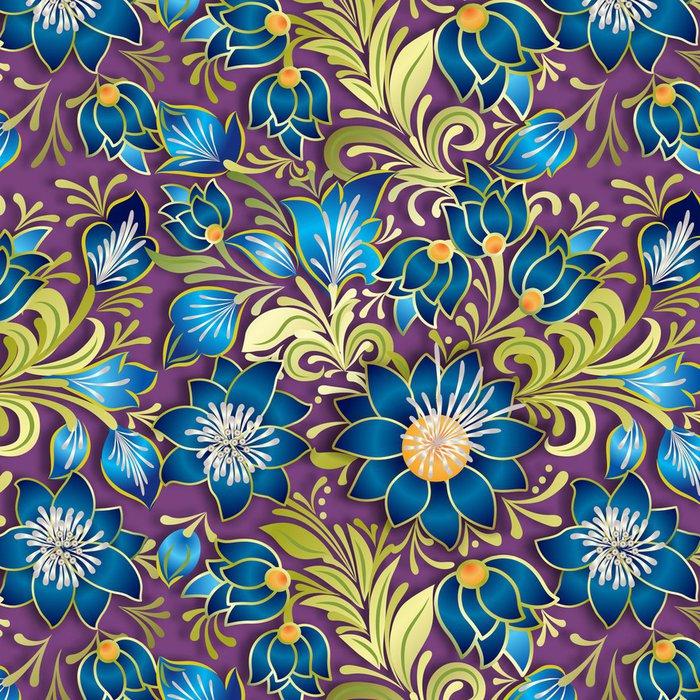 Tapeta Pixerstick Abstraktní vintage bezešvé květinový ornament - Pozadí