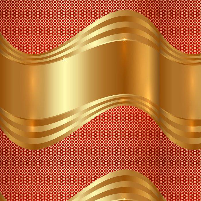 Vinylová Tapeta Abstraktní zlaté pozadí s křivkami - Abstraktní