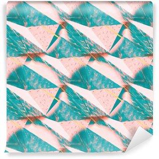 Vinylová Tapeta Abstraktní zmačkaný pozadí textury trojúhelníkový. Bezešvé polygonální vzor pro svůj design. Creative šablony.
