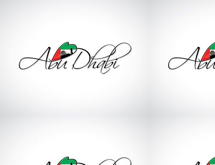 Tapeta Pixerstick Abu Dhabi nápisy - Střední Východ