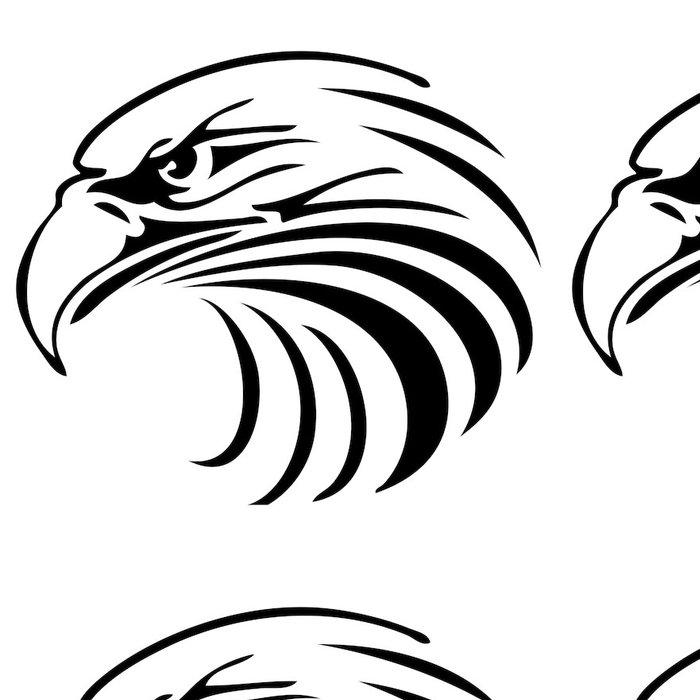Tapeta Pixerstick Adler Kopf Logo - Nálepka na stěny