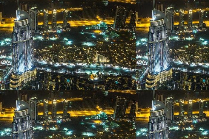 Tapeta Pixerstick Adresa Hotel v noci v centru města Dubaj oblasti s výhledem - Střední Východ