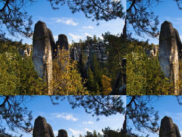 Tapeta Pixerstick Adršpach - skalní město - Outdoorové sporty