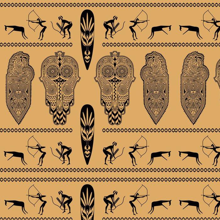 Vinylová Tapeta Africká dekorativní vzor - Afrika