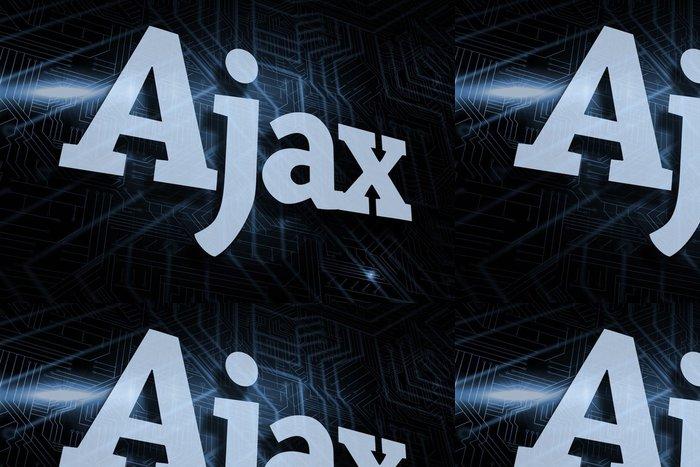 Vinylová Tapeta Ajax proti futuristické černé a modré pozadí - Pozadí