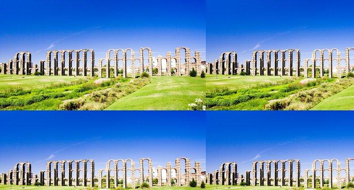 Tapeta Pixerstick Akvadukt Los Milagros, Merida, Extremadura, Španělsko - Evropa