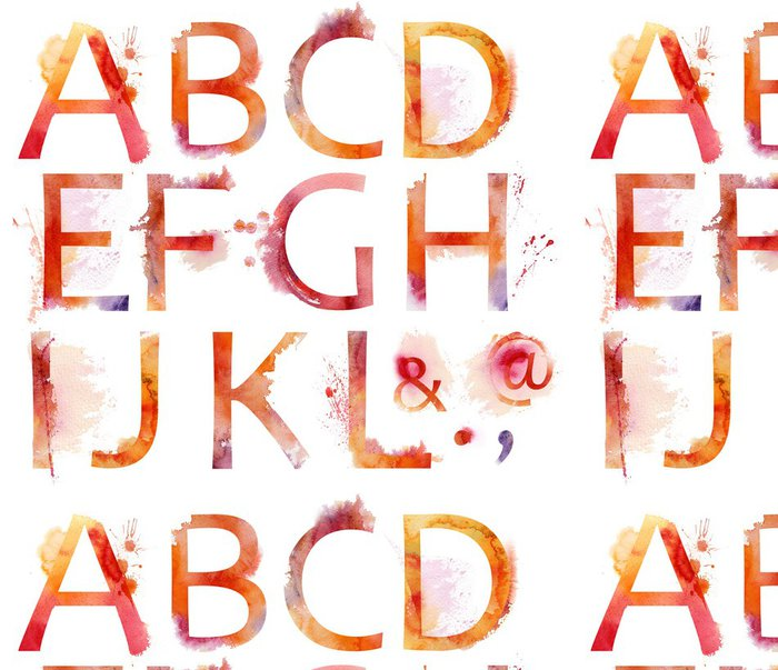 Tapeta Pixerstick Akvarel abecedy - Umění a tvorba