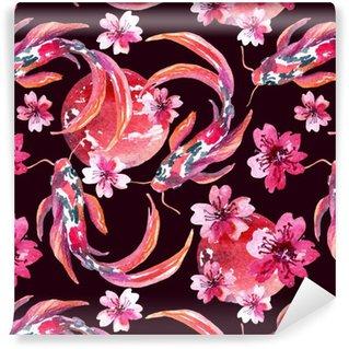 Vinylová Tapeta Akvarel asijských koi ryby