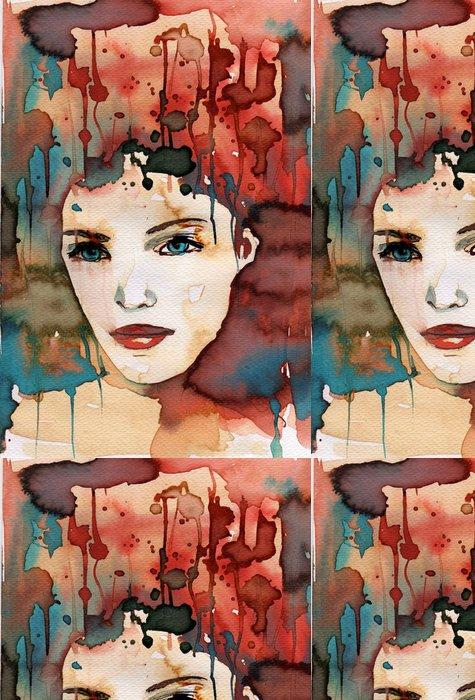 Tapeta Pixerstick Akvarel ilustrace - Žena