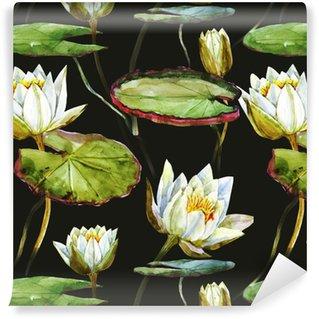 Vinylová Tapeta Akvarel lotus vzor